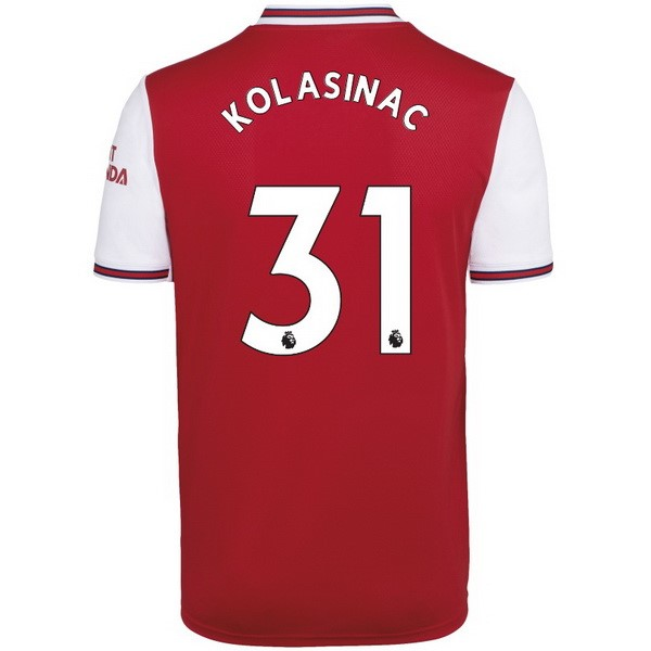 Maillot Foot Arsenal NO.31 Kolasinac 1ª 2019-2020 Rouge